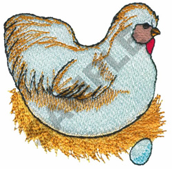 CHICKEN W/EGG embroidery design