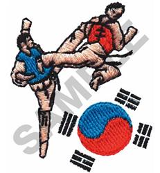 TAE-KWON-DO embroidery design