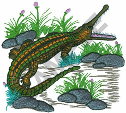 GAVIAL embroidery design