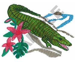 Alligator applique machine embroidery design digital pattern  |Alligator Design Embroidery Floss