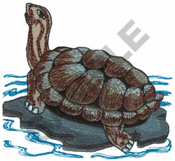 GALAPAGOUS TORTOISE embroidery design