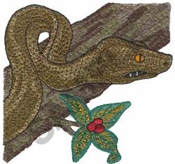 GREEN PYTHON embroidery design