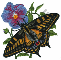 PAPILIO MACHAON embroidery design