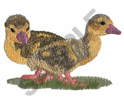 DUCKLINGS embroidery design