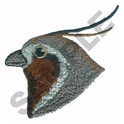 BIRD HEAD embroidery design