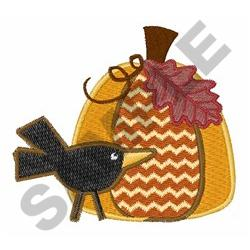 CROW AND PUMPKIN embroidery design