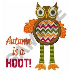 AUTUMN IS A HOOT embroidery design