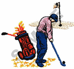 GOLFING SCENE embroidery design