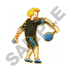 RACQUETBALL PLAYER embroidery design