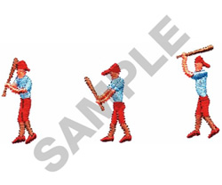 BATTER UP embroidery design