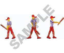 BASEBALL SWING embroidery design