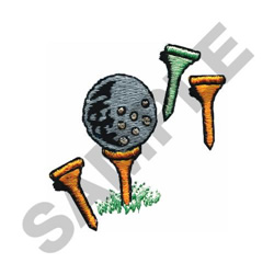 GOLF BALL & TEES embroidery design