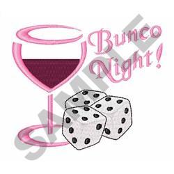 BUNCO NIGHT embroidery design