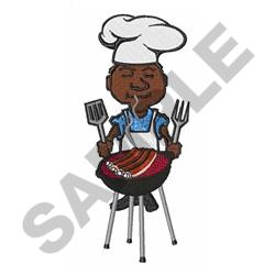 GRILLING BBQ RIBS embroidery design