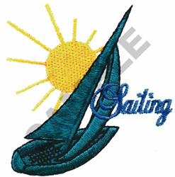 'SAILING' embroidery design