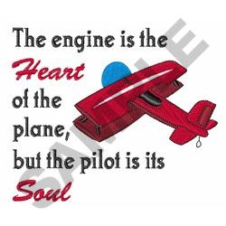 SOUL OF AIRPLANE embroidery design