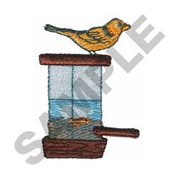 BIRD WITH FEEDER embroidery design