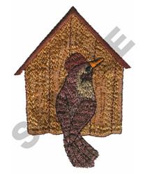 BIRDHOUSE & BIRD embroidery design