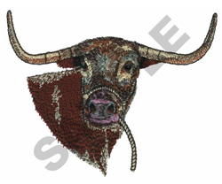 LONGHORN embroidery design
