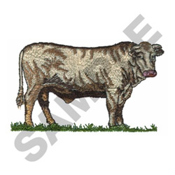 COW embroidery design