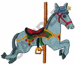 CAROUSEL DONKEY embroidery design