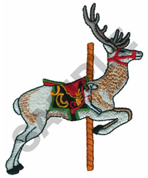 CAROUSEL DEER embroidery design