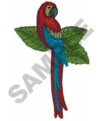 PARROT embroidery design