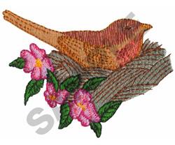 BIRD IN NEST embroidery design