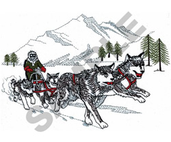 SNOW SCENE embroidery design