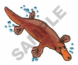 PLATYPUS embroidery design