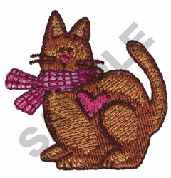 OLD FASHIONED COUNTRY CAT embroidery design