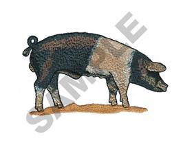 SADDLEBLACK PIG embroidery design