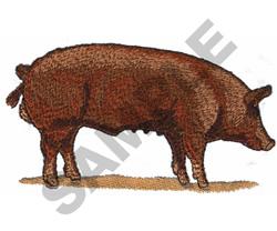 TAMWORTH PIG embroidery design