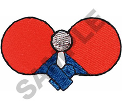 PING PONG PADDLES AND BALL embroidery design