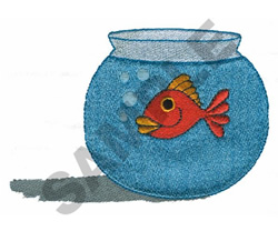 GOLDFISH IN BOWL embroidery design