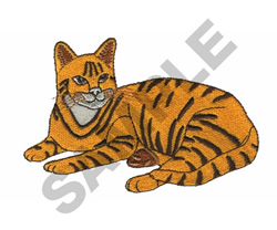 YELLOW TIGER CAT embroidery design