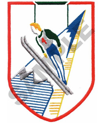 SKI CREST embroidery design