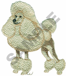 TOY POODLE embroidery design