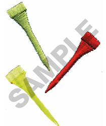 GOLF TEES embroidery design