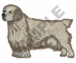 CLUMBER SPANIEL embroidery design