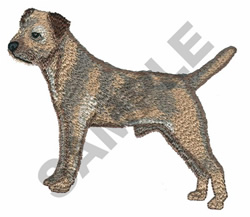 BORDER TERRIER embroidery design
