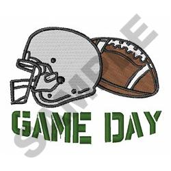 GAME DAY embroidery design
