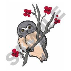 JUVENILE SAW WHET OWL embroidery design