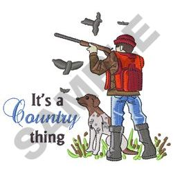 ITS A COUNTRY THING embroidery design