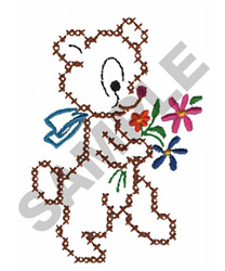 CROSS STITCH BEAR embroidery design