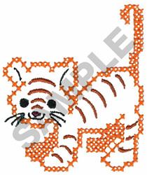 CROSS STITCH TIGER embroidery design