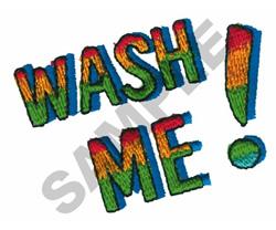 WASH ME! embroidery design