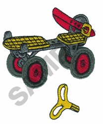 SKATE & KEY TOY #16 embroidery design