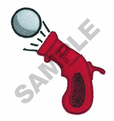 PING PONG BALL SQUEEZE GUN TOY # 20 embroidery design