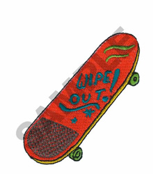 SKATEBOARD embroidery design